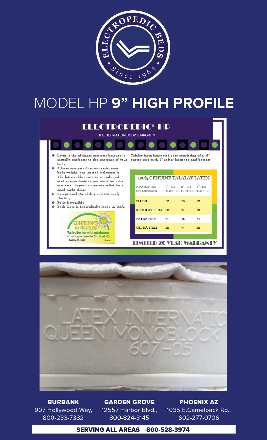 100% pure Latexpillo latex foam high profile natural organic beds cotton  and wool